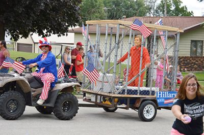 hillary in jail parade float
