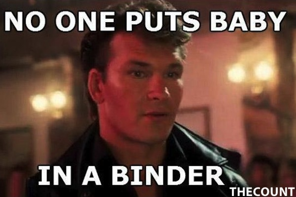 ht dirty dancing binder ss thg 121016 ssh Mitt Romney Binders Full of Women Memes
