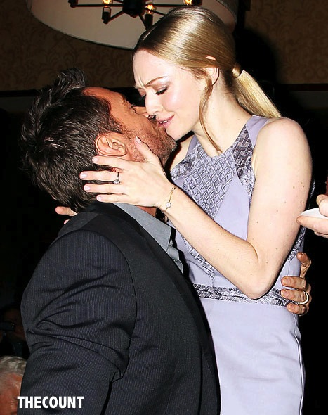 Amanda Seyfried and Hugh Jackman