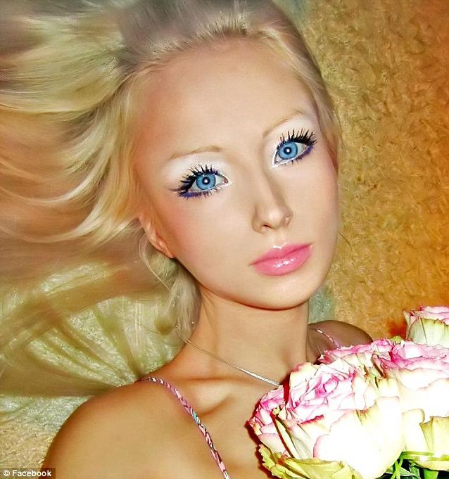 It's easy to see why. Valeria's Barbie doll looks have made her