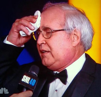 is chevy chase sick sweating snl-40