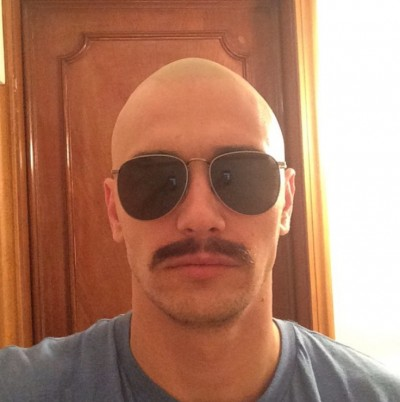 james Franco SHAVES HEAD BALD