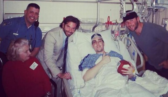 jeff bauman fundraiser Bradley Cooper Visits Boston Bomb Victims
