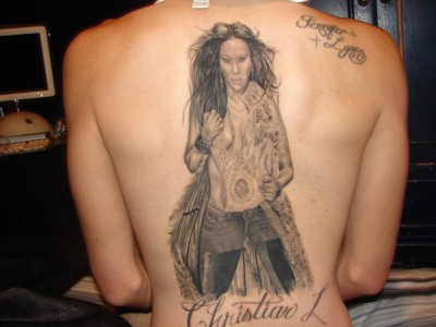 jennifer lopez back tattoo