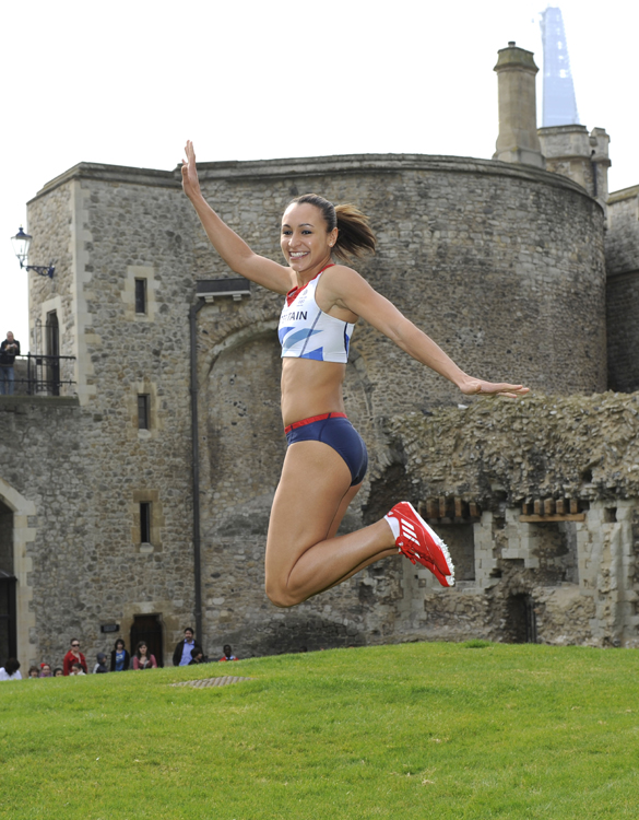 Jessica Ennis at the launch of the Adidas British team kit