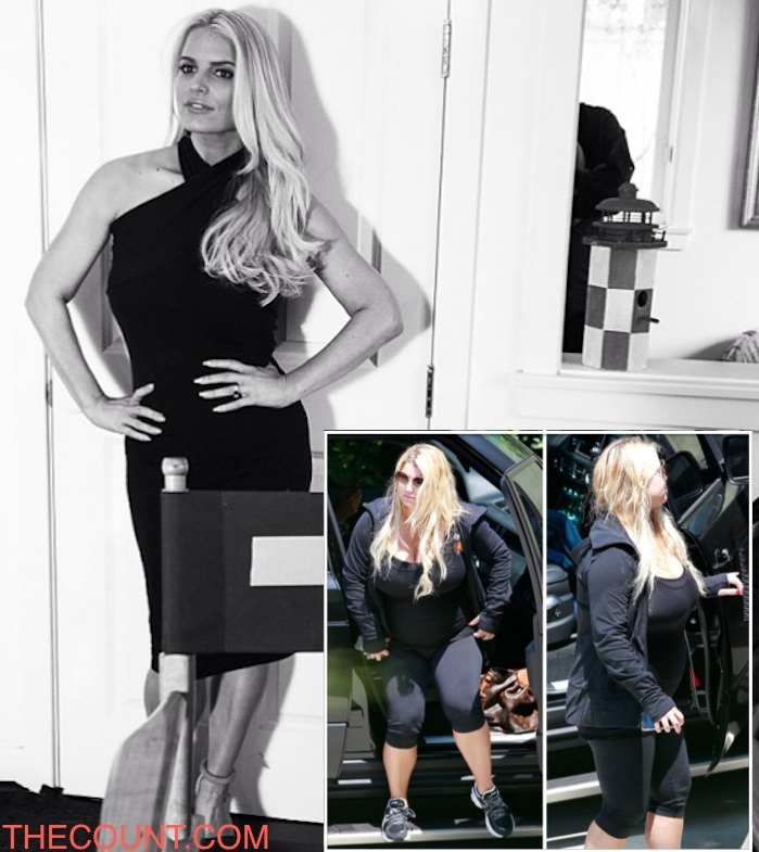 jessica simpson sexy black dress