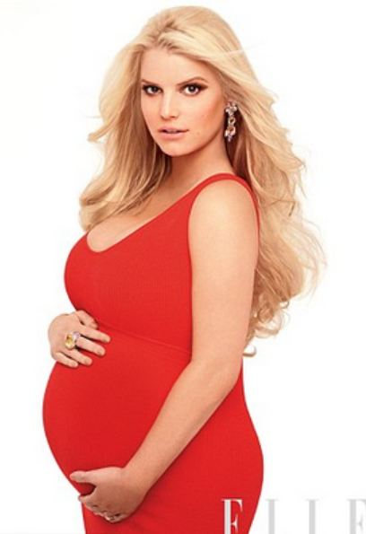 jessica simpson pregnant elle3 Will Kim Ks Baby Bump Be Bigger Than Her Behind?