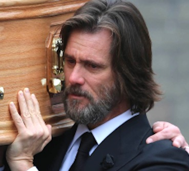 jim carrey pallbearer coffin cathriona white Jim Carrey Supports Ex GF For The Final Time