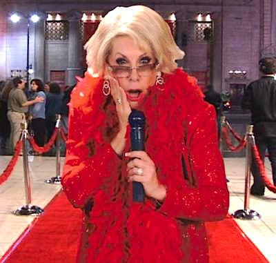 joan rivers red carpet funeral