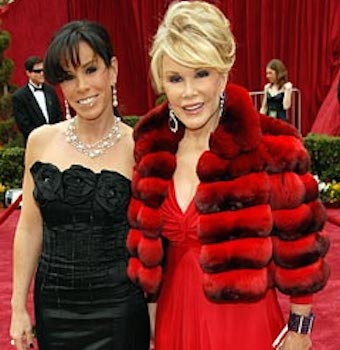 joan rivers red carpet