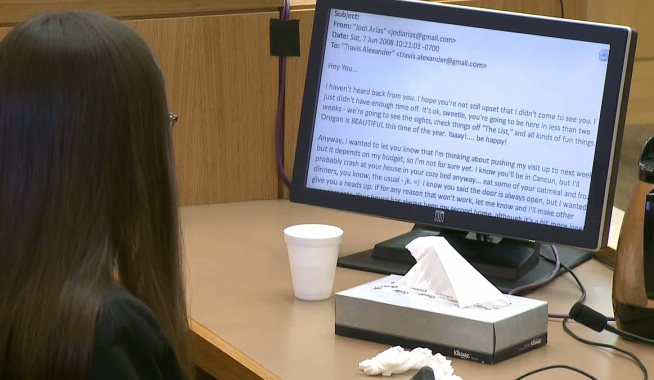 jodi arias email 2 Creepy Email Jodi Arias Sent To EX AFTER Killing ...