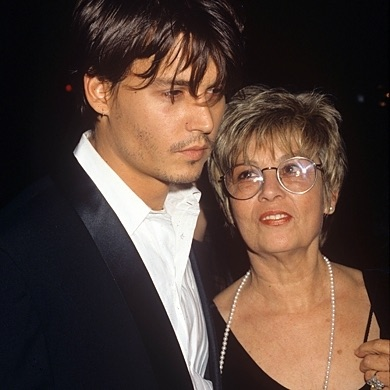 johnny depp and mother red carpet