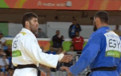 judo olympics hand shake snub