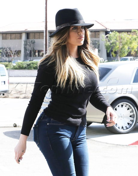 Khloe Kardashian and Scott Disick filming in Calabasas