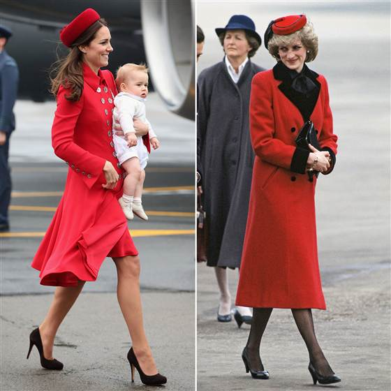kate diana red coat
