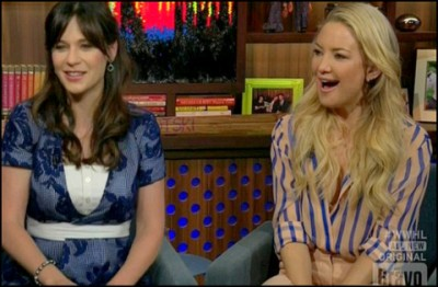 Zooey Deschanel & Kate Hudson on Bravo show video