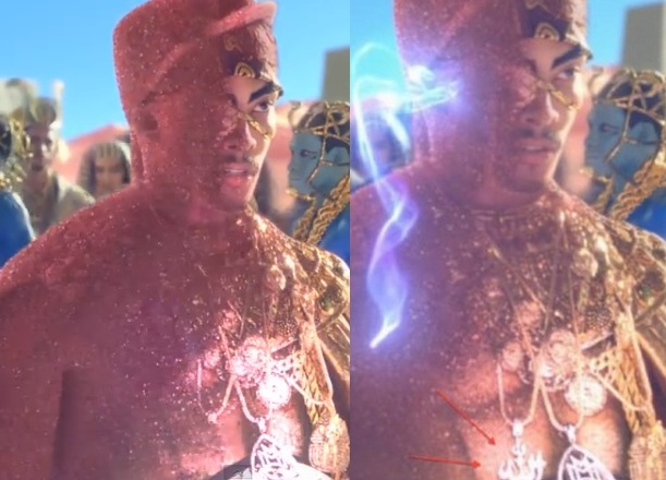 katy perry removes offencive necklace