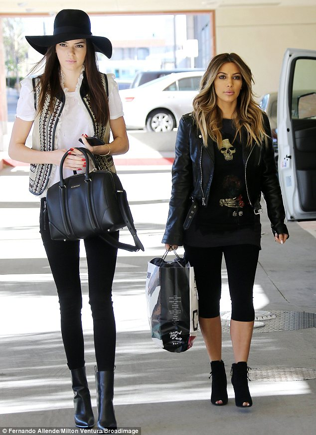 kendall and kim height difference