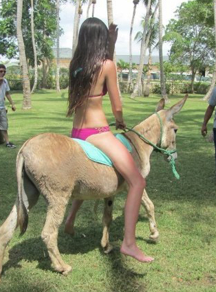 Why Is Kendall Jenner Riding A Donkey? - TheCount.com
