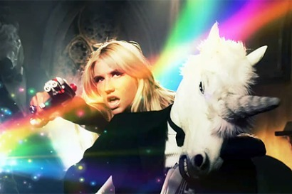 kesha unicorn 0 Ke$ha Begs for Illuminati Acceptance? Blood Sacrifice, Unicorns...