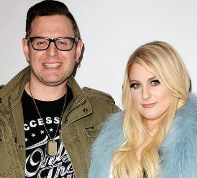 "HOLLYWOOD, CA - JANUARY 13: Producer Kevin Kadish and singer Meghan Trainor attend Trainor's record release party for her debut album ""Title"" at Warwick on January 13, 2015 in Hollywood, California. (Photo by Jason LaVeris/FilmMagic)"