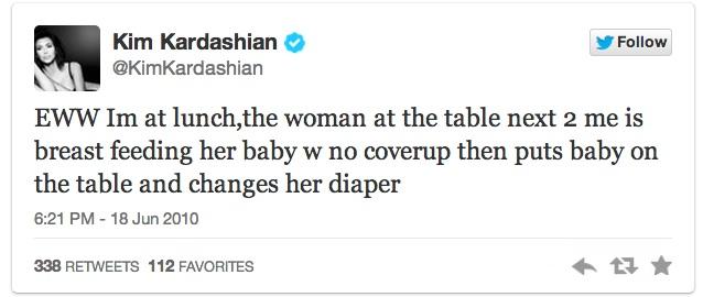 kim breastfeeding tweet