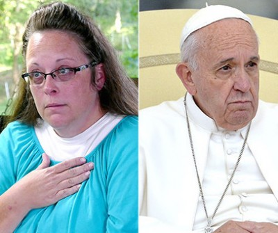kim davis pope francis meeting 400x335 Pope Francis: Hold Up! I DONT Support Kim Davis
