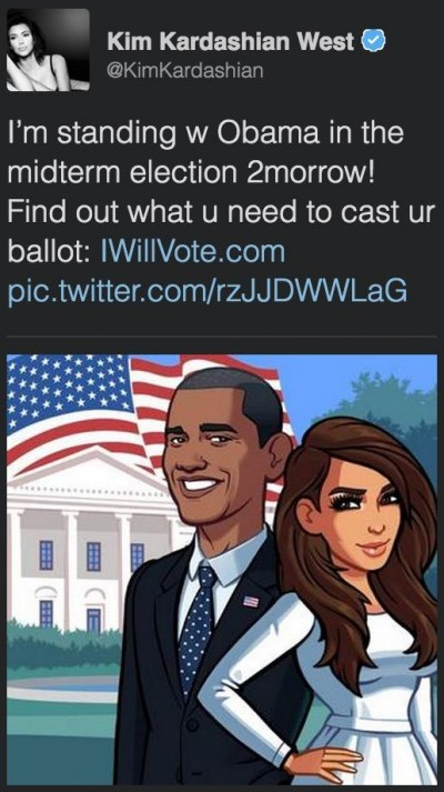 kim kardashian standing with obama