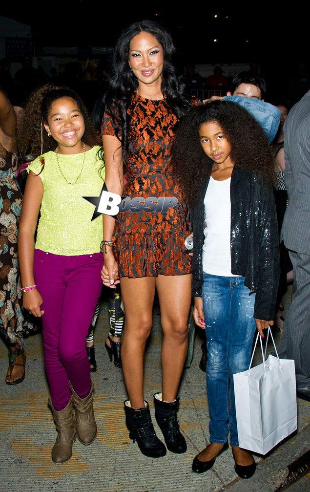 GRIN AND BARE IT: Russell Simmons Ex KiHOra + Daughters: Family Night