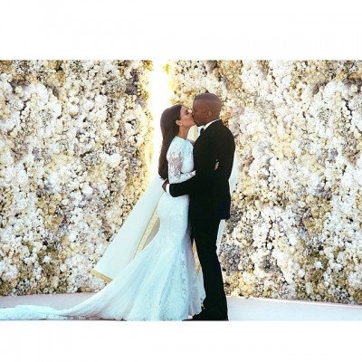 kimye wedding pic instagram