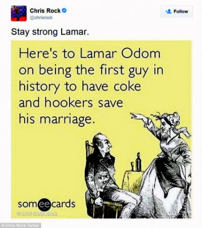 Chris Rock's someecard about Lamar Odom