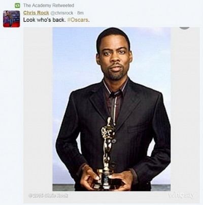 Chris Rock to host the Oscars