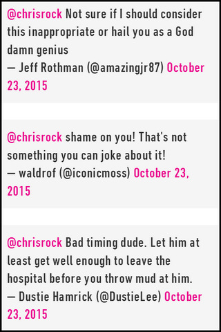 Fans lash out at Chris Rock over Twitter joke