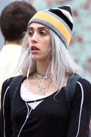 lourdes gray hair embed Madonna Daughter New Look: Should We Be Concerned?