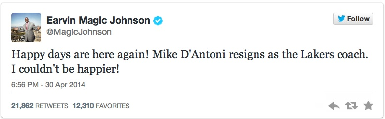 magic johnson Mike D'Antoni