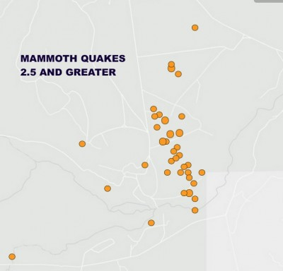 mammoth earthquake swarm
