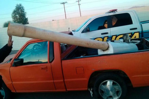 mexico pot cannon Mexican Cops Finally Capture Marijuana Cannon