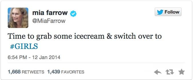 mia farrow twitter