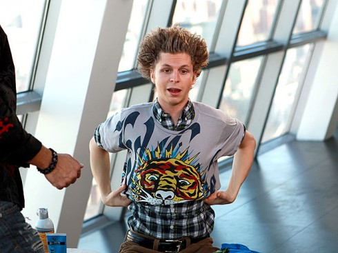 michael cera 3 490x367 LOL! Superbads Michael Cera Gets Jersey Shore Makeover!