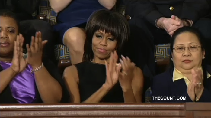 michelle obama bob wig state ofthe union Break Time? President And First Lady To Spend Holiday Apart