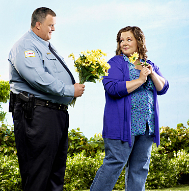 "MIKE & MOLLY is a comedy from Chuck Lorre (""Two and a Half Men,"" ""The Big Bang Theory"") about a working class Chicago couple who find love at an Overeaters Anonymous meeting. Billy Gardell plays Mike Biggs, a cop, and Melissa McCarthy portrays fourth-grade teacher Molly Flynn. MIKE & MOLLY will premiere this Fall, Mondays (9:30-10:00 PM ET/PT) on the CBS Television Network. Photo: Art Streiber/CBS ©2010 CBS Broadcasting inc. All rights reserved."