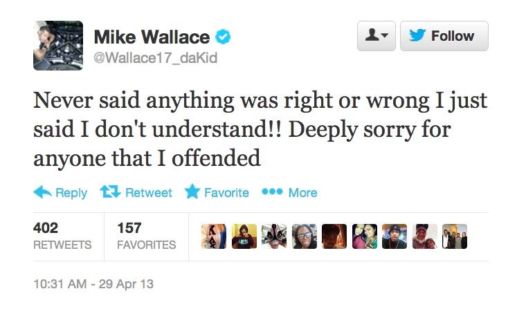 mike wallace follow up tweet