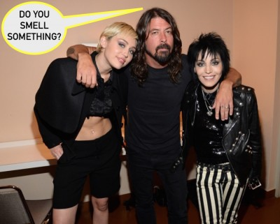 miley cyrus armpit hair rock and roll hall of fame jett