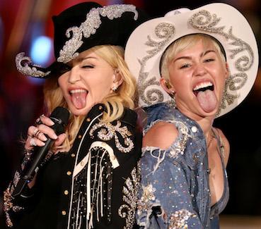Madonna Miley Cyrus