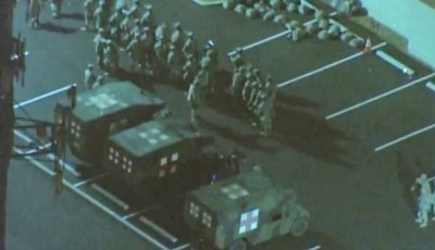military in ferguson