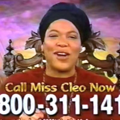 miss cleo Psychic Readers Network 400x402 CALL ME NOW! Famed TV Psychic MISS CLEO DEAD At 53