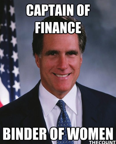 mitt romney women binder meme Mitt Romney Binders Full of Women Memes