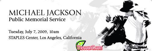 mjservice top 1copy Michael Jackson Staples Center Public Memorial Service Information