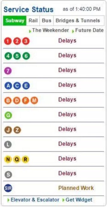 mta line power outage subway