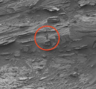 mystery woman walking on mars